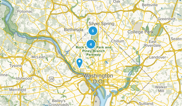 District of Columbia Forest Map