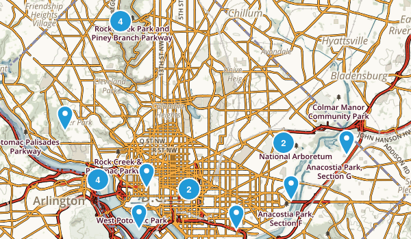 District of Columbia Kid Friendly Map