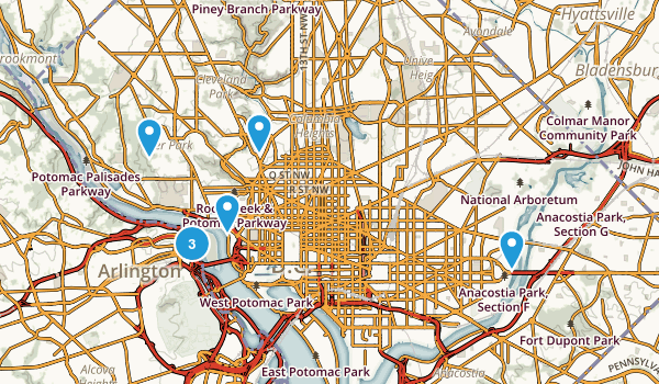 District of Columbia Nature Trips Map