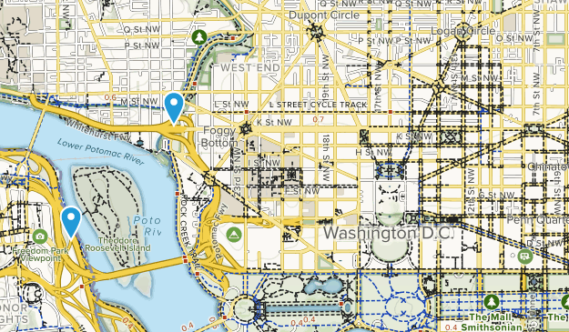 District of Columbia State Parks Map