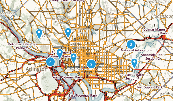 District of Columbia Views Map