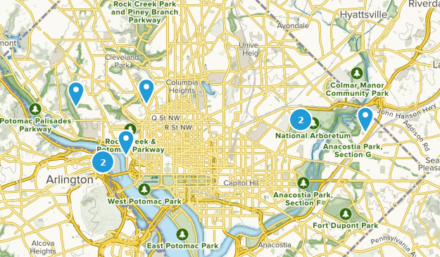 District of Columbia Wild Flowers Map