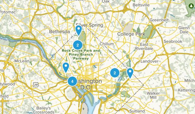 District of Columbia Wildlife Map