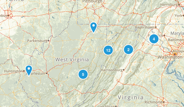 West Virginia Backpacking Map
