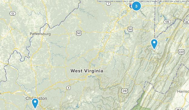 West Virginia Cross Country Skiing Map