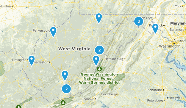 West Virginia Horseback Riding Map