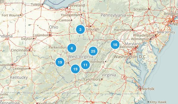 West Virginia Kid Friendly Map
