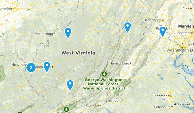West Virginia Paddle Sports Map
