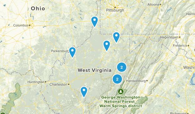 West Virginia Rails Trails Map