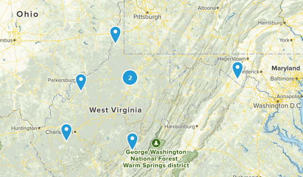 West Virginia Stroller Friendly Map