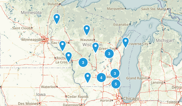 Wisconsin Wheelchair Friendly Map
