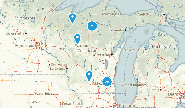 Wisconsin Backpacking Map