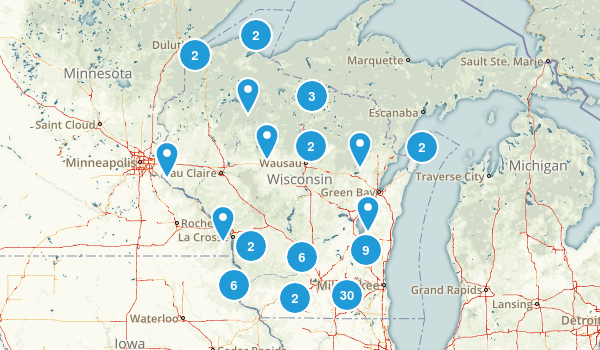 Wisconsin Camping Map