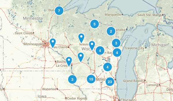 Wisconsin Cross Country Skiing Map