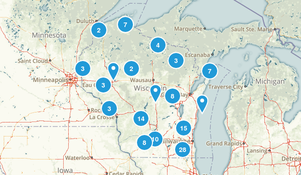 Wisconsin Dogs On Leash Map