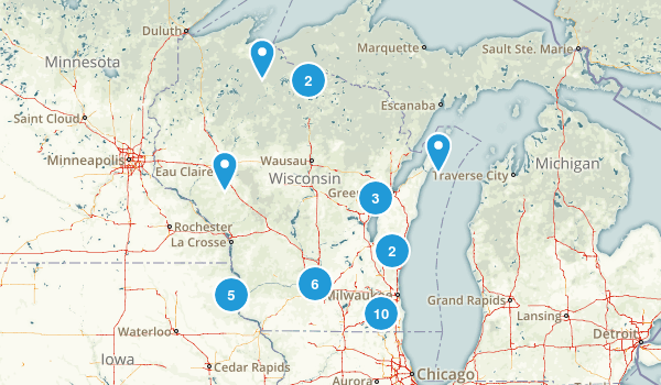 Wisconsin No Dogs Map