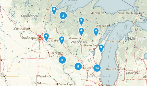 Wisconsin Fishing Map