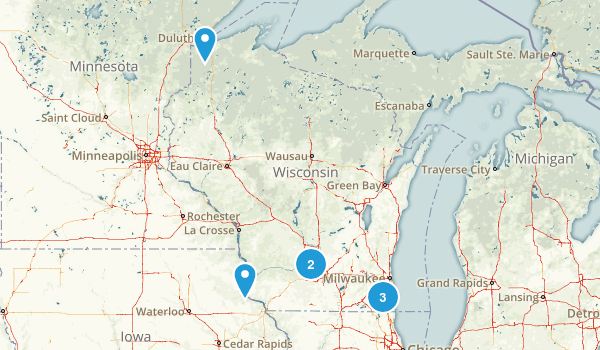 Wisconsin Historic Site Map