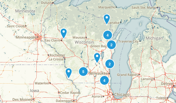 Wisconsin Horseback Riding Map