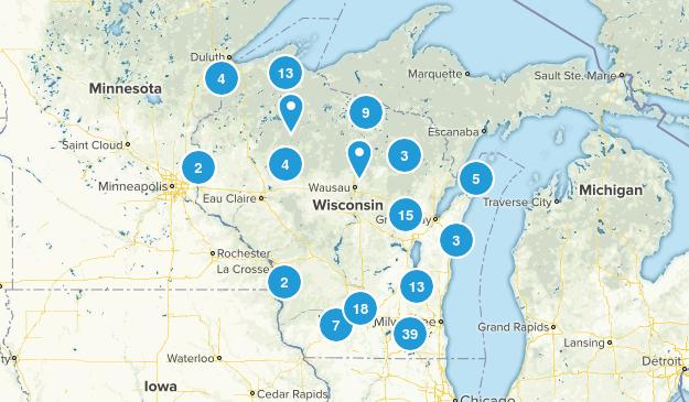 Wisconsin Lake Map