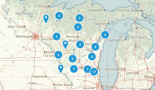 Wisconsin Mountain Biking Map