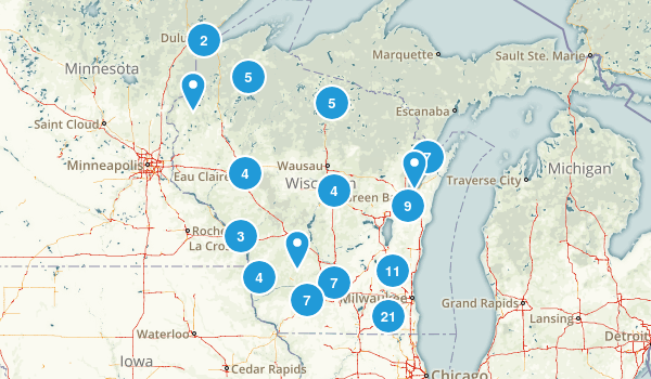 Wisconsin Mountain Biking Map