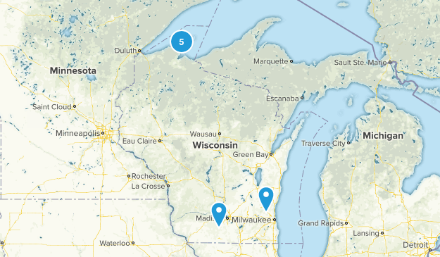 Wisconsin National Parks Map