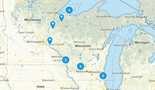 Wisconsin Paddle Sports Map