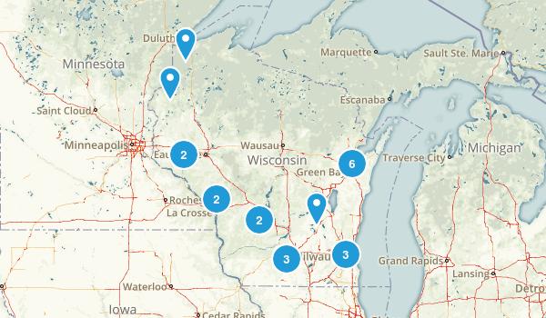 Wisconsin Rails Trails Map