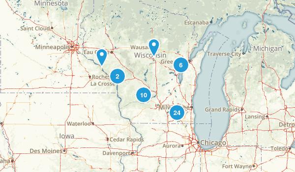 Wisconsin Road Biking Map