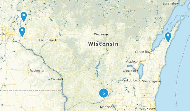 Wisconsin Rock Climbing Map