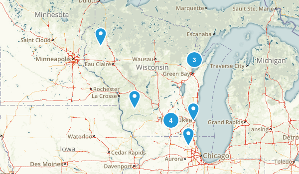 Wisconsin Skiing Map