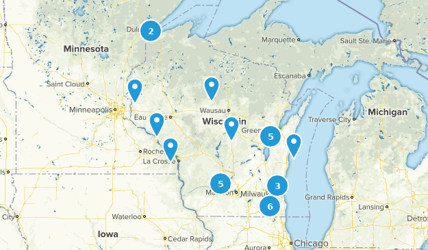 Wisconsin Stroller Friendly Map