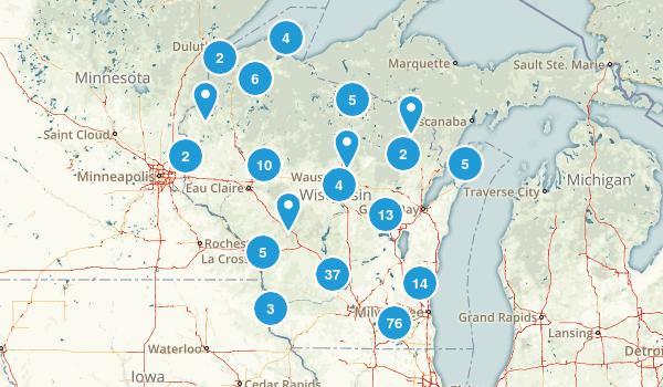 Wisconsin Trail Running Map