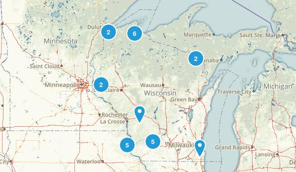 Wisconsin Waterfall Map