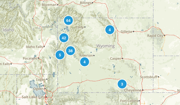 Wyoming Backpacking Map