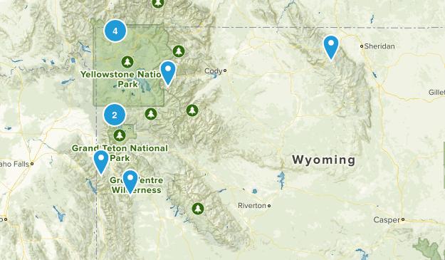 Wyoming Cross Country Skiing Map