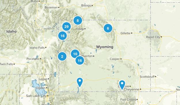 Wyoming Fishing Map
