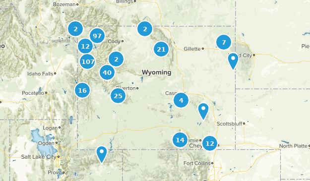 Wyoming Forest Map
