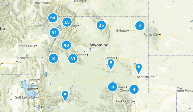Wyoming Lake Map