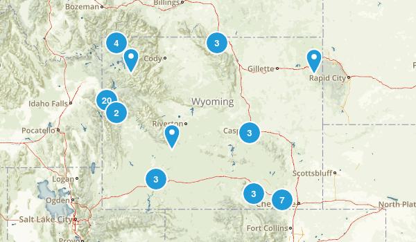 Wyoming Mountain Biking Map