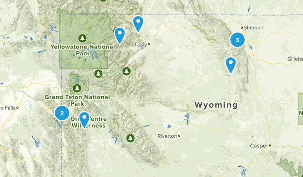 Wyoming Off Road Driving Map