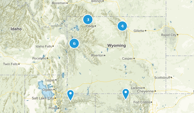 Best Off Road Driving Trails in Wyoming | AllTrails City Map Of Wyoming on