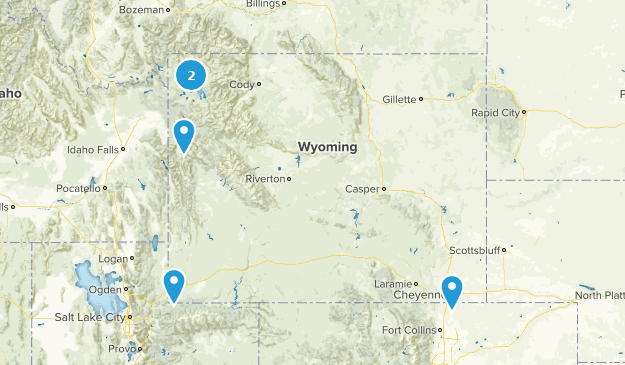 Wyoming Partially Paved Map