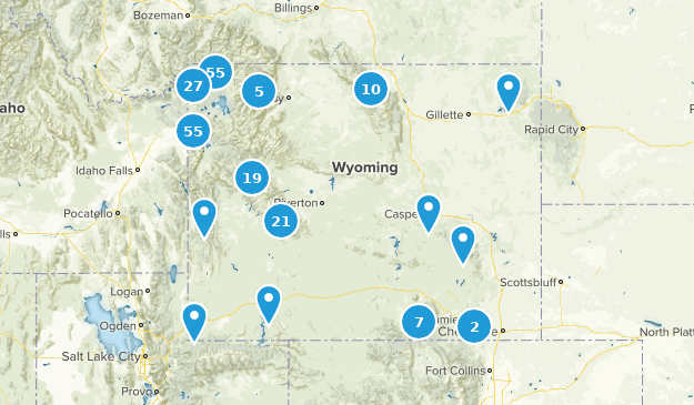 Wyoming River Map