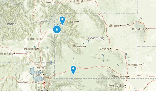 Wyoming Road Biking Map
