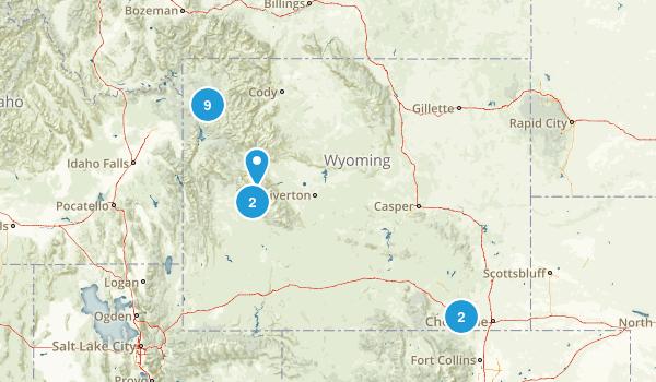 Wyoming Rock Climbing Map