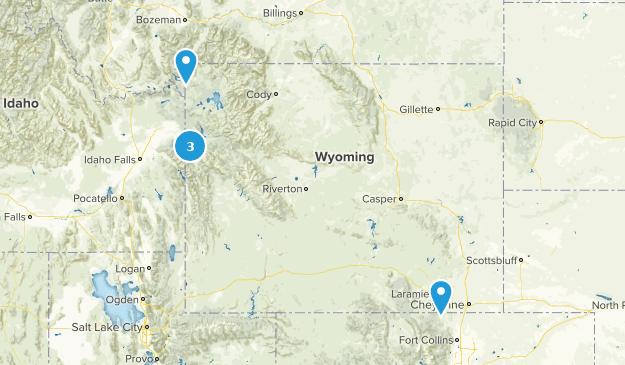 Wyoming Skiing Map