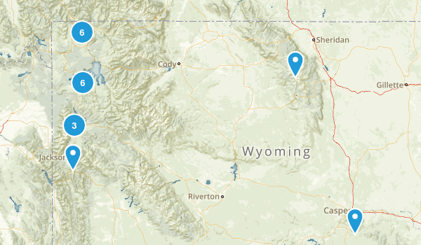 Wyoming Snowshoeing Map