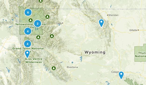 Wyoming Snowshoeing Map